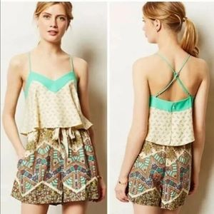 Elevenses by Anthropologie Size 10 Romper